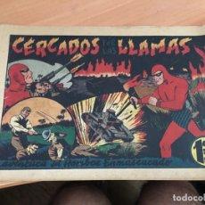 Tebeos: EL HOMBRE ENMASCARADO Nº 55 CERCADOS POR LAS LLAMA (ORIGINAL HISPANO AMERICANA) CROMO BESCOS (COIB4). Lote 168947636