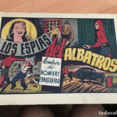 Tebeos: EL HOMBRE ENMASCARADO Nº 32 LOS ESPIAS DEL ALBATROS (HISPANO AMERICANA) CROMO SANS BARÇA (COIB4). Lote 168949180