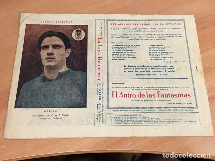 Tebeos: JORGE Y FERNANDO Nº 46 EL AVIADOR FANTASMA (ORIGINAL HISPANO AMERICANA) CROMO CALVO ESPAÑOL (COIB4) - Foto 2 - 168992392