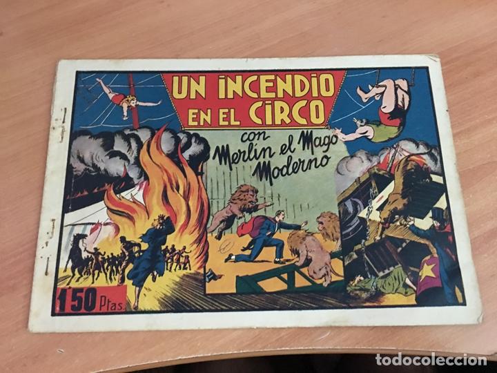 MERLIN Nº 1 UN INCENDIO EN EL CIRCO (ORIGINAL HISPANO AMERICANA) CROMOS (COIB4) (Tebeos y Comics - Hispano Americana - Merlín)