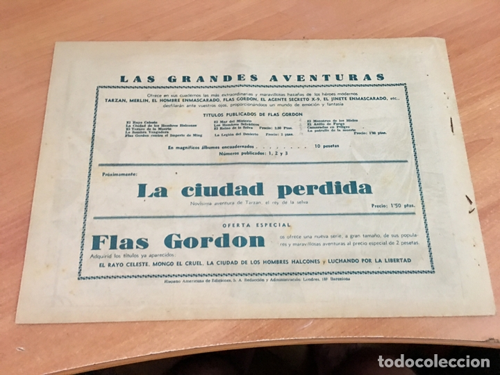 Tebeos: FLASH FLAS GORDON COLECCION COMPLETA 1 AL 18 (ORIGINAL ED. HISPANO AMERICANA) (COIB5) - Foto 30 - 169116280