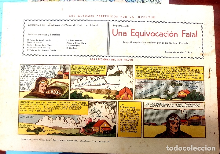 Tebeos: ARCHIVO (57): CARLOS EL INTRÉPIDO Nº 11 (HISPANO AMERIVANA, 1942) - Foto 2 - 52151026