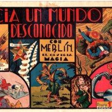 Tebeos: HACIA UN MUNDO DESCONOCIDO CON MERLIN EL REY DE LA MAGIA. GRANDES AVENTURAS. ORIGINAL. Lote 169414289