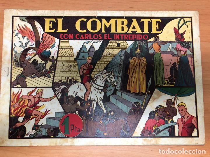 COMIC CARLOS EL INTREPIDO Nº10 EL COMBATE EDITORIAL HISPANO AMERICANA (Tebeos y Comics - Hispano Americana - Carlos el Intrépido)