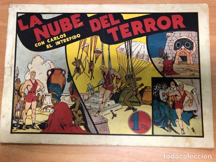 COMIC CARLOS EL INTREPIDO Nº11 LA NUBE DEL TERROR EDITORIAL HISPANO AMERICANA (Tebeos y Comics - Hispano Americana - Carlos el Intrépido)