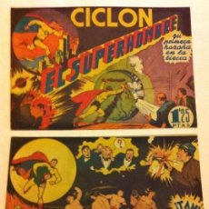Tebeos: CICLÓN - COLECCIÓN COMPLETA DE 2 - EDICIÓN 1,25 PTA.- EXTRAORDINARIA CONSERVACIÓN- RARO. Lote 171114374