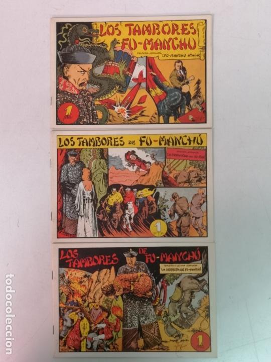 LOS TAMBORES DE FU MANCHU REEDICION, 3 EJEMPLARES (Tebeos y Comics - Hispano Americana - Juan Centella)
