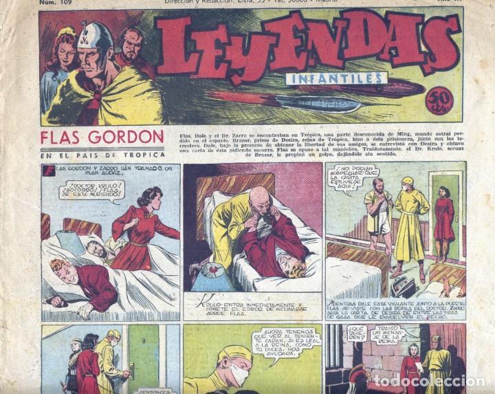 LEYENDAS INFANTILES Nº109. FLASH GORDON, TARZÁN, DICK NORTON, POPEYE, AGENTE SECRETO X-9, GUARDIA MO (Tebeos y Comics - Hispano Americana - Leyendas Infantiles)
