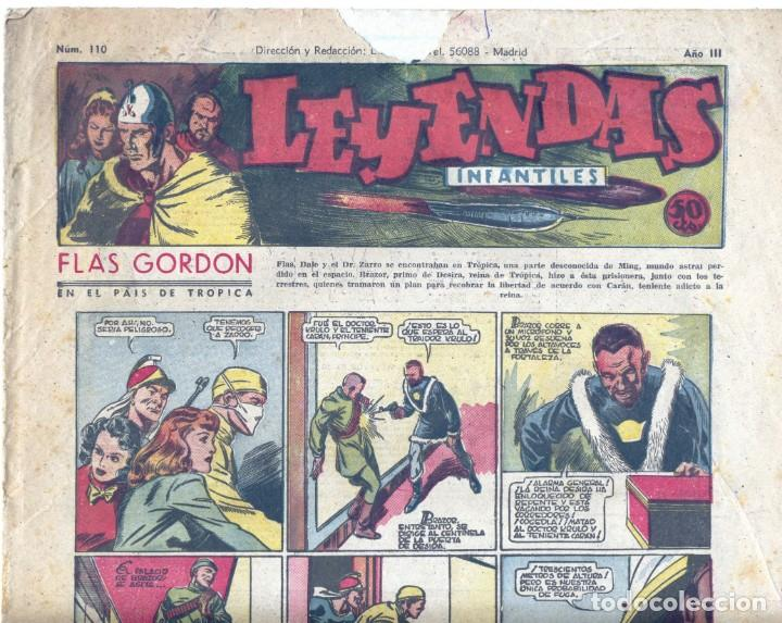 LEYENDAS INFANTILES Nº110. FLASH GORDON, TARZÁN, DICK NORTON, POPEYE, AGENTE SECRETO X-9, CENTELLA (Tebeos y Comics - Hispano Americana - Leyendas Infantiles)