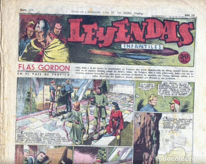 LEYENDAS INFANTILES Nº111. FLASH GORDON, JUAN CENTELLA, TARZÁN, POPEYE, GUARDIA MÓVIL, DICK NORTON (Tebeos y Comics - Hispano Americana - Leyendas Infantiles)