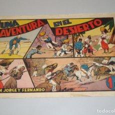 Tebeos: JORGE Y FERNANDO, UNA AVENTURA EN EL DESIERTO, 1 PTA, EDITORIAL HISPANO AMERICANA. Lote 171779450