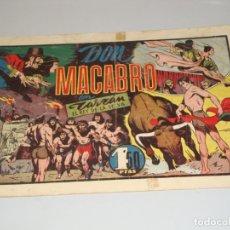Tebeos: TARZAN EL REY DE LA SELVA DON MACABRO A. 1942 HISPANO AMERICANA. Lote 172260182