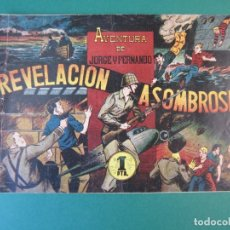 Tebeos: JORGE Y FERNANDO (1940, HISPANO AMERICANA) 76 · 1940 · REVELACIÓN ASOMBROSA. Lote 172663150