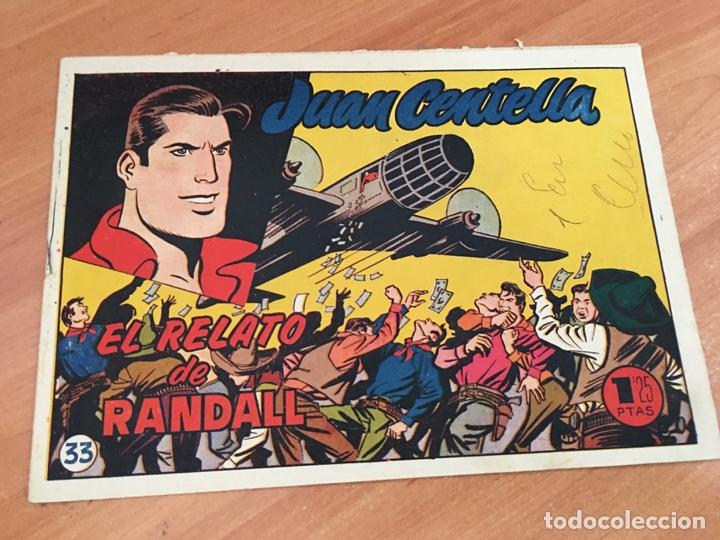 JUAN CENTELLA Nº 33 EL RELATO DE RANDALL (ORIGINAL HISPANO AMERICANA) (COIB23) (Tebeos y Comics - Hispano Americana - Juan Centella)
