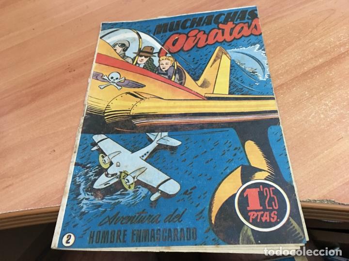 HOMBRE ENMASCARADO Nº 2 MUCHACHAS PIRATAS (ORIGINAL HISPANO AMERICANA) (COIB25) (Tebeos y Comics - Hispano Americana - Hombre Enmascarado)