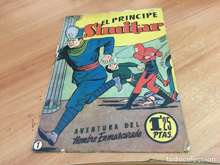 HOMBRE ENMASCARADO Nº 1 EL PRINCIPE SIMITAR (ORIGINAL HISPANO AMERICANA) (COIB25) (Tebeos y Comics - Hispano Americana - Hombre Enmascarado)