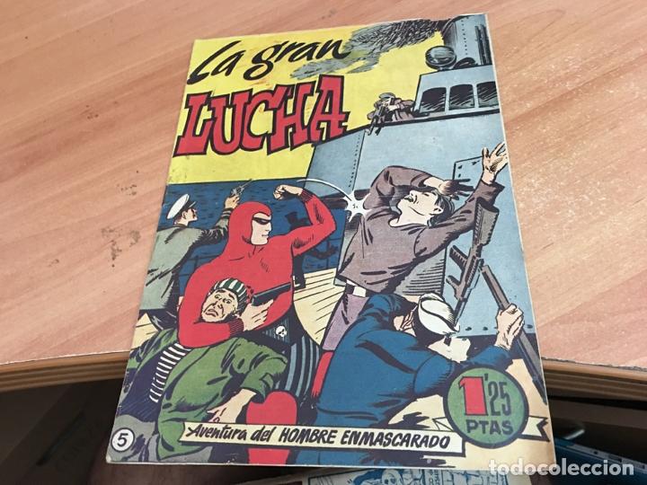HOMBRE ENMASCARADO Nº 5 LA GRAN LUCHA (ORIGINAL HISPANO AMERICANA) (COIB25) (Tebeos y Comics - Hispano Americana - Hombre Enmascarado)