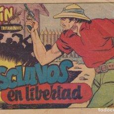 Tebeos: PIN EL TROTAMUNDOS Nº 18 ESCLAVOS EN LIBERTAD EL DE LA FOTO VER FOTO ADICIONAL CONTRAPORTADA. Lote 173918405