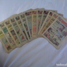 Tebeos: LOTE DE 13 NUMEROS DEL AVENTURERO ENTRE 120 Y 135 - EDITORIAL HISPANO AMERICANA - 1937 Y 1938. Lote 174359818