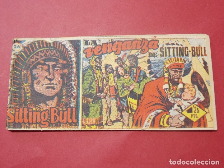 SITTING BULL Nº 26 - LA VENGANZA DE SITTING BULL - EDICIONES HISPANO AMERICANA - 8 X 17 CM... L299 (Tebeos y Comics - Hispano Americana - Otros)