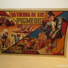 Tebeos: MERLIN REY DE MAGIA TIERRA DE LOS PIGMEOS Nº 4 AÑOS 40 EDI,HISPANO AMERICANA MUY BUEN ESTADO,BARATO. Lote 176513574