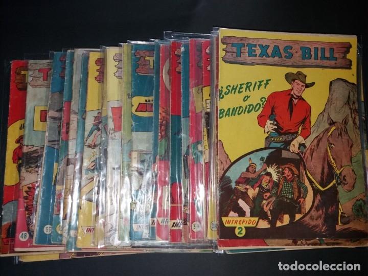 34 EJEMPLARES DE TEXAS BILL VERTICALES 1954 (Tebeos y Comics - Hispano Americana - Otros)