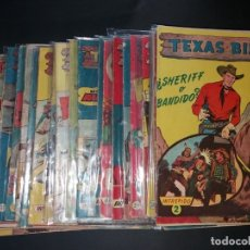 Tebeos: 34 EJEMPLARES DE TEXAS BILL VERTICALES 1954. Lote 176591105