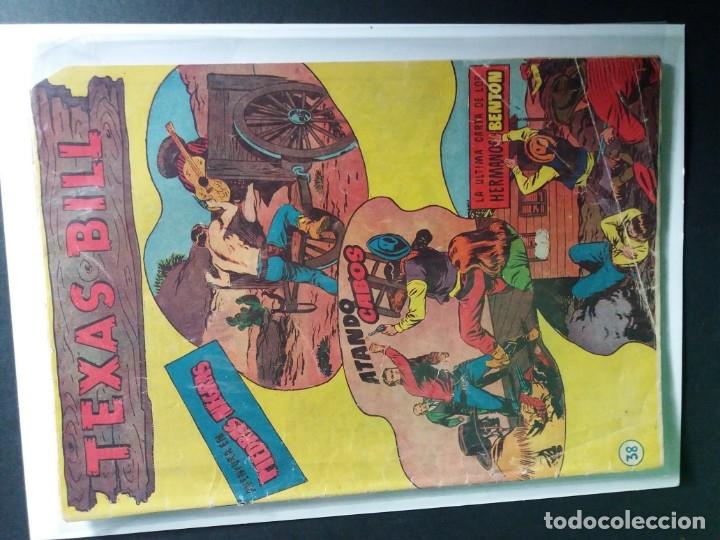 Tebeos: 34 EJEMPLARES DE TEXAS BILL VERTICALES 1954 - Foto 4 - 176591105