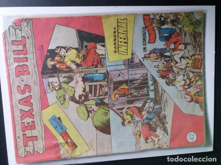 Tebeos: 34 EJEMPLARES DE TEXAS BILL VERTICALES 1954 - Foto 7 - 176591105