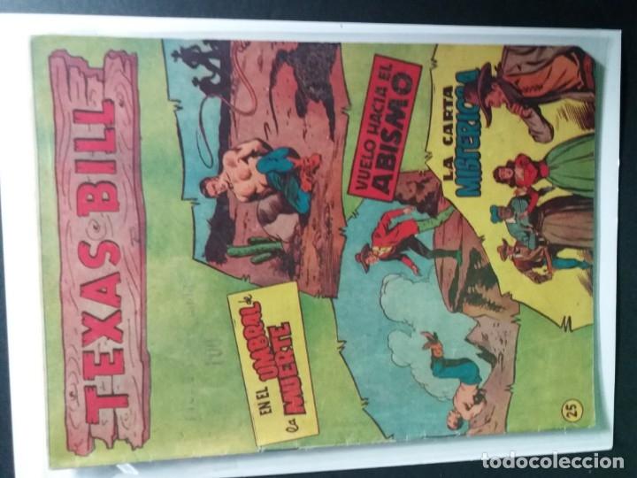 Tebeos: 34 EJEMPLARES DE TEXAS BILL VERTICALES 1954 - Foto 9 - 176591105