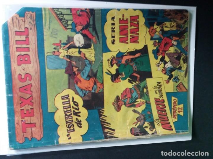 Tebeos: 34 EJEMPLARES DE TEXAS BILL VERTICALES 1954 - Foto 10 - 176591105