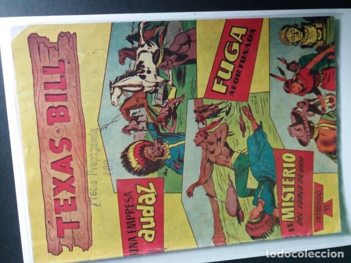 Tebeos: 34 EJEMPLARES DE TEXAS BILL VERTICALES 1954 - Foto 11 - 176591105