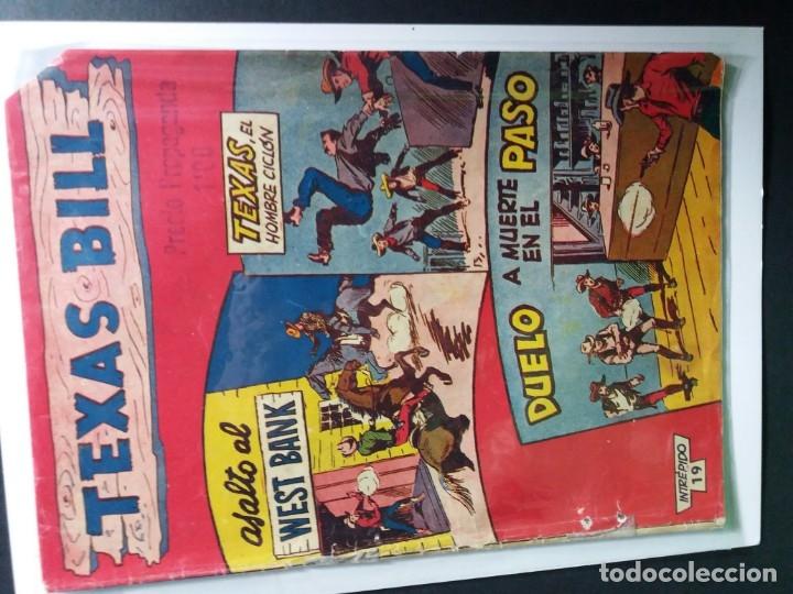 Tebeos: 34 EJEMPLARES DE TEXAS BILL VERTICALES 1954 - Foto 15 - 176591105