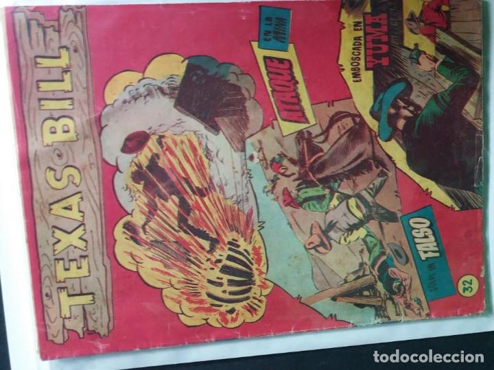 Tebeos: 34 EJEMPLARES DE TEXAS BILL VERTICALES 1954 - Foto 16 - 176591105