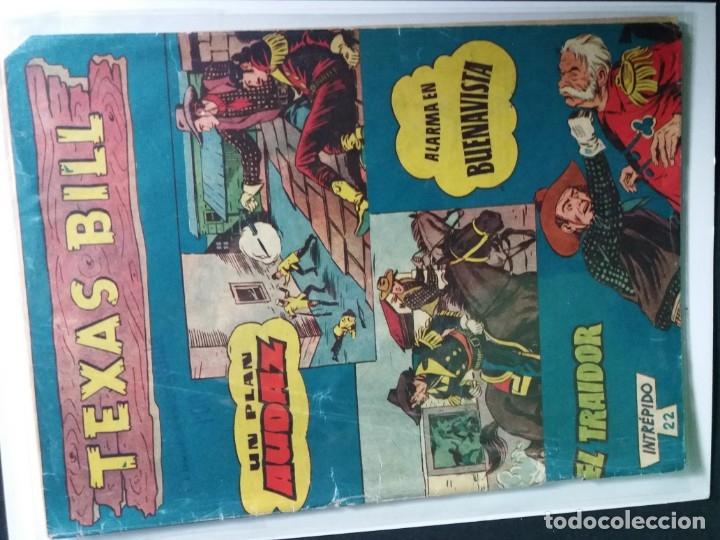 Tebeos: 34 EJEMPLARES DE TEXAS BILL VERTICALES 1954 - Foto 23 - 176591105