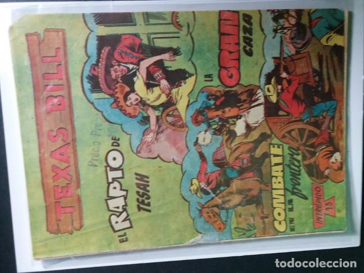Tebeos: 34 EJEMPLARES DE TEXAS BILL VERTICALES 1954 - Foto 24 - 176591105