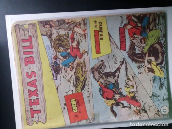 Tebeos: 34 EJEMPLARES DE TEXAS BILL VERTICALES 1954 - Foto 25 - 176591105