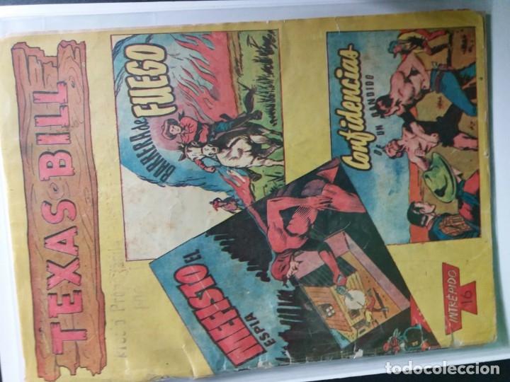 Tebeos: 34 EJEMPLARES DE TEXAS BILL VERTICALES 1954 - Foto 26 - 176591105