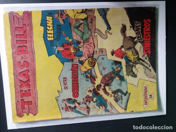 Tebeos: 34 EJEMPLARES DE TEXAS BILL VERTICALES 1954 - Foto 27 - 176591105
