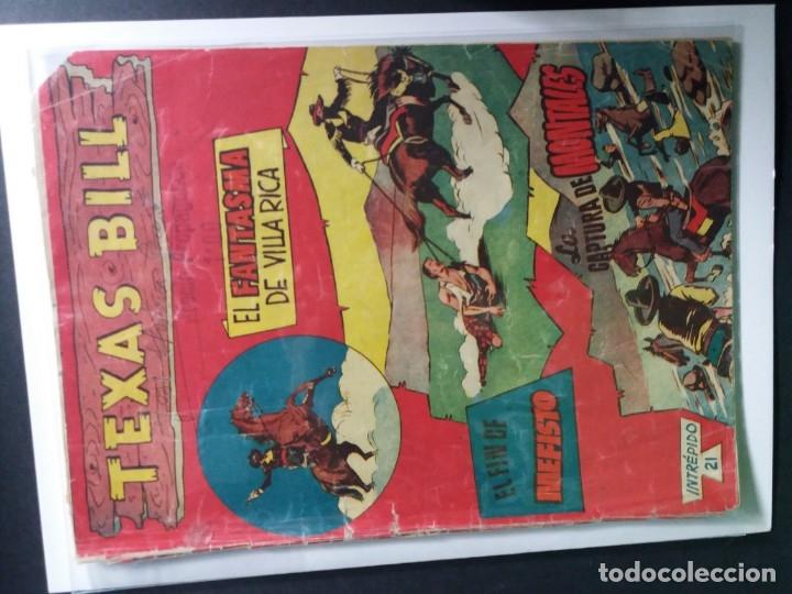 Tebeos: 34 EJEMPLARES DE TEXAS BILL VERTICALES 1954 - Foto 28 - 176591105