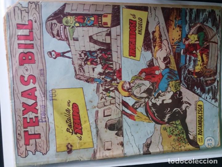 Tebeos: 34 EJEMPLARES DE TEXAS BILL VERTICALES 1954 - Foto 30 - 176591105