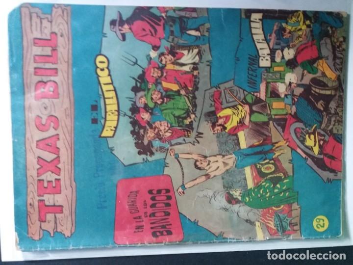 Tebeos: 34 EJEMPLARES DE TEXAS BILL VERTICALES 1954 - Foto 31 - 176591105