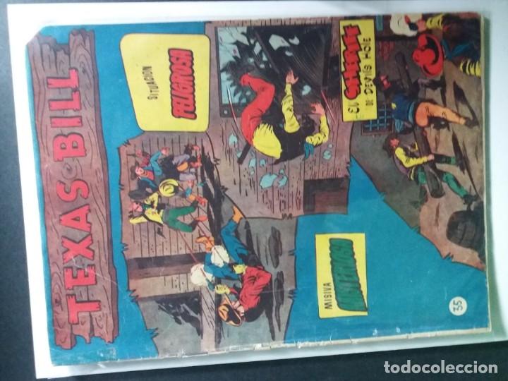 Tebeos: 34 EJEMPLARES DE TEXAS BILL VERTICALES 1954 - Foto 32 - 176591105