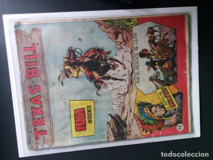 Tebeos: 34 EJEMPLARES DE TEXAS BILL VERTICALES 1954 - Foto 33 - 176591105