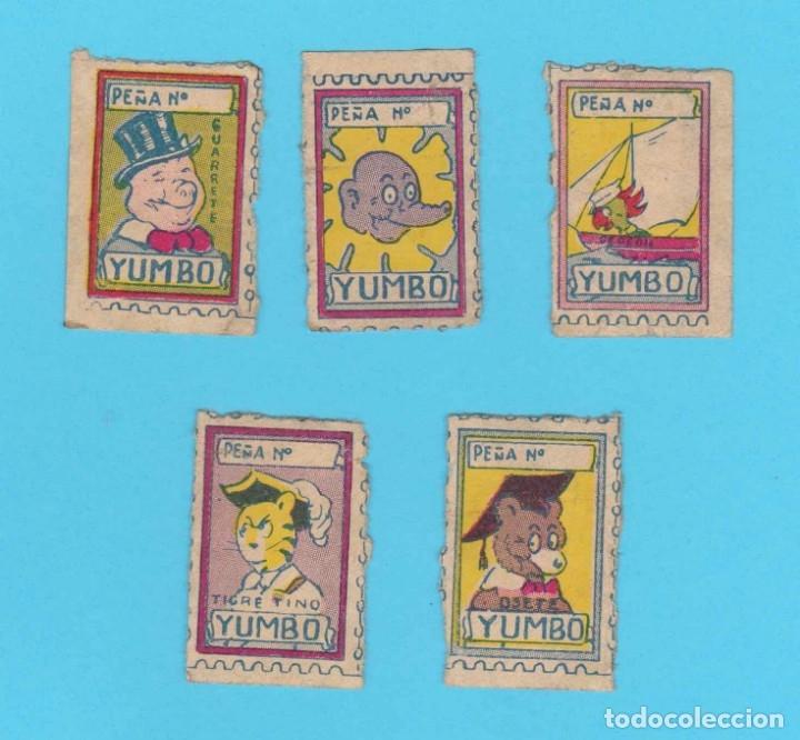 LOTE DE 5 VIÑETAS DE LA REVISTA YUMBO, EL ELEFANTE SABIO Y SU PANDILLA. HISPANO AMERICANA, 30'S (Tebeos y Comics - Hispano Americana - Yumbo)