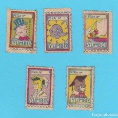 Tebeos: LOTE DE 5 VIÑETAS DE LA REVISTA YUMBO, EL ELEFANTE SABIO Y SU PANDILLA. HISPANO AMERICANA, 30'S. Lote 177497905
