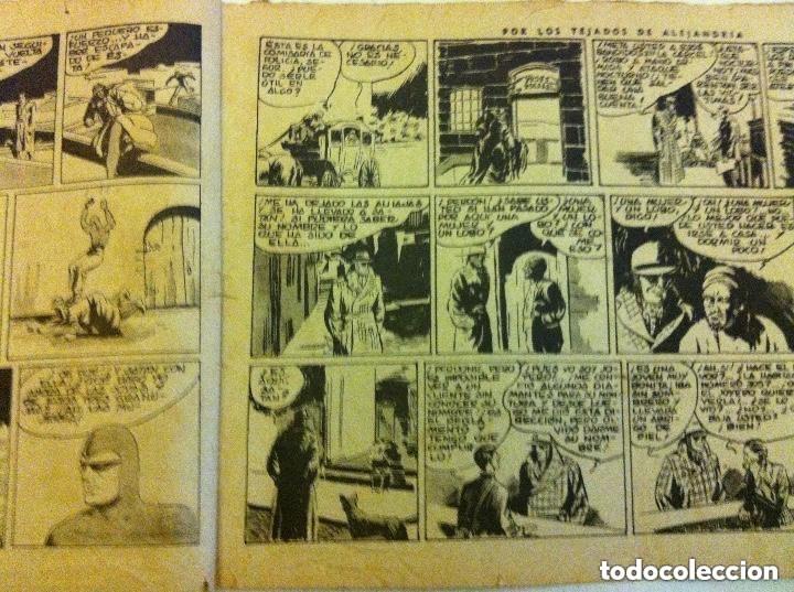 Tebeos: hombre enmascarado - por los tejados de Alejandría -usado - Foto 2 - 177695370