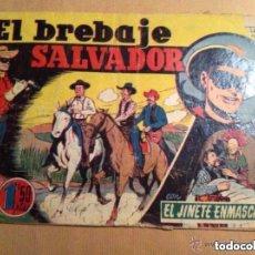 Tebeos: EL JINETE ENMASCARADO (LONE RANGER) - EL BREBAJE SALVADOR - LOMO ABIERTO Y ROTURA PORTADA. Lote 177716748