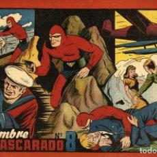 Tebeos: EL HOMBRE ENMASCARADO ALBUM ROJO-8 (HISPANO AMERICANA, 1944). Lote 177752529