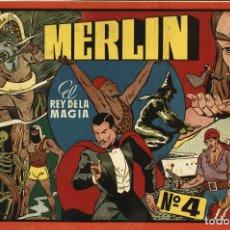 Tebeos: MERLÍN, EL REY DE LA MAGIA. ALBUM ROJO-4 (HISPANO AMERICANA, 1944). Lote 177753843